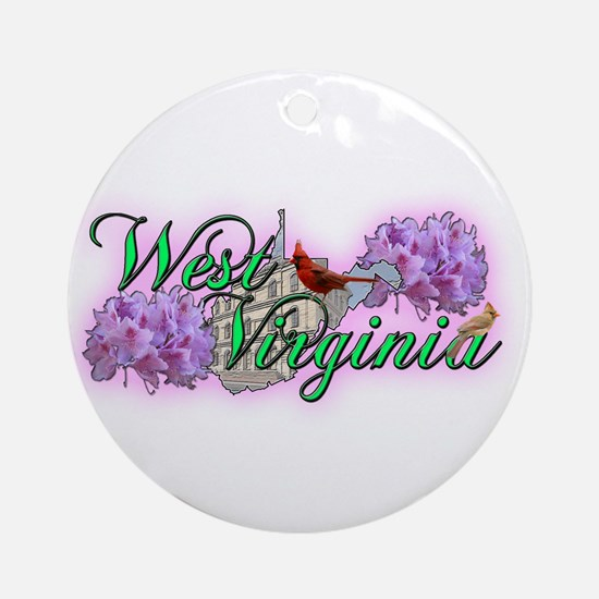 West Virginia Ornament (Round)
