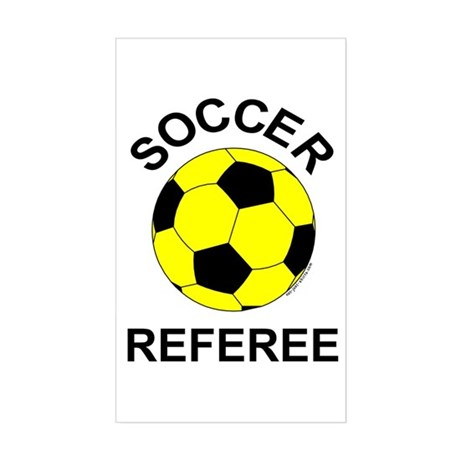 Soccer Referee Rectangle Sticker
