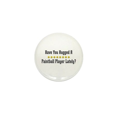 Hugged Paintball Player Mini Button (10 pack)