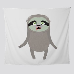 Zombie Sloth Halloween Costume Wall Tapestry