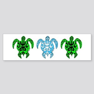 Tribal Turtle Bumper Sticker