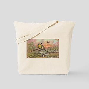Vintage Frogs Baseball Tote Bag