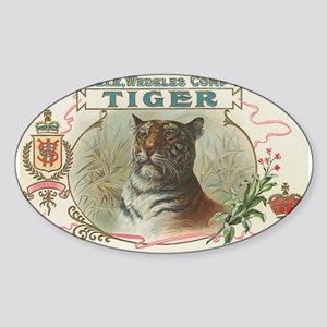 Vintage TIGER Label Oval Sticker