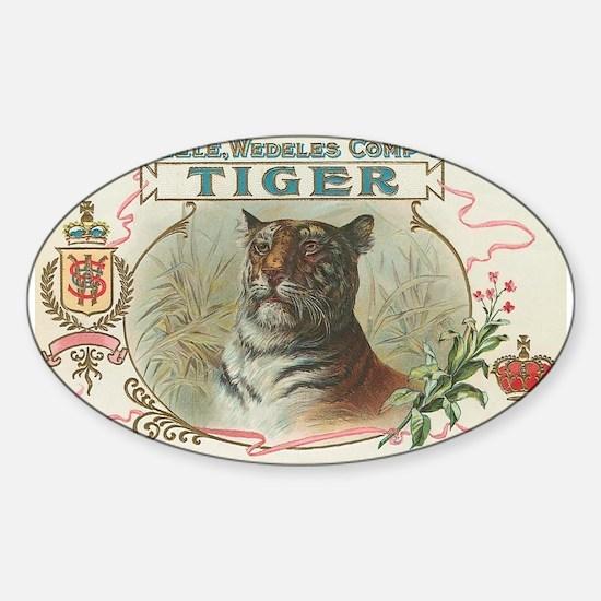 Vintage TIGER Label Oval Decal