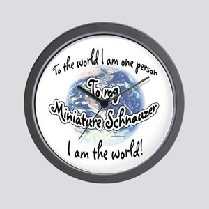 Mini Schnauzer World2 Wall Clock