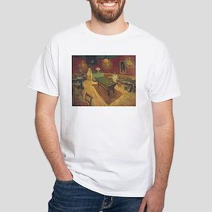 Night Cafe Van Gogh Art White T-Shirt