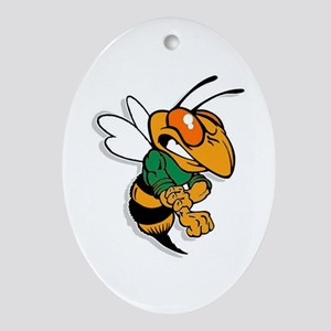 Bee Oval Ornament
