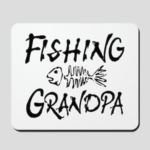 Fishing Grandpa Mousepad