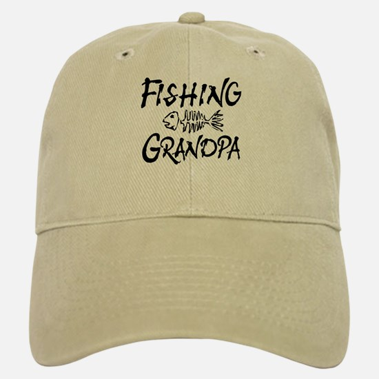 Fishing Grandpa Baseball Baseball Cap