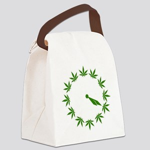 Weed Clock Canvas Lunch Bag
