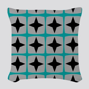 Mid-Century Stars Woven Throw Pillow