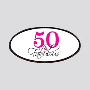 50 and Fabulous Pink Black Patches