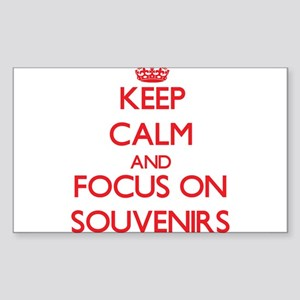 Keep Calm and focus on Souvenirs Sticker