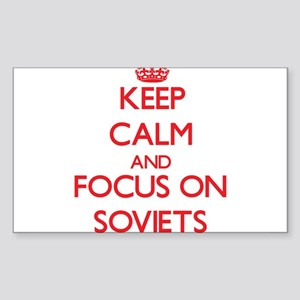 Keep Calm and focus on Soviets Sticker