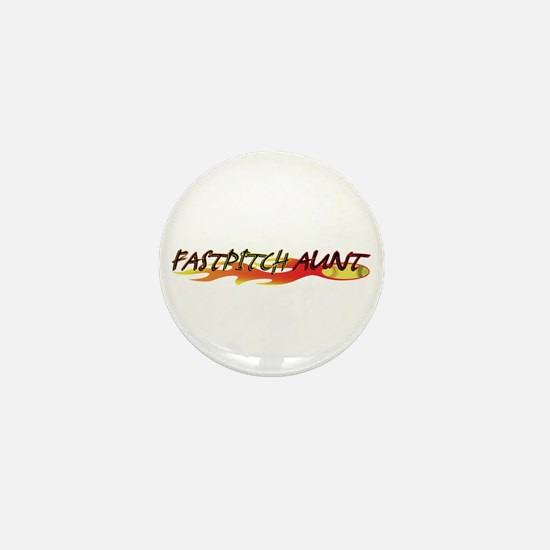 Fastpitch Aunt Mini Button