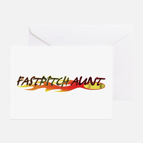 Fastpitch Aunt Greeting Cards (Pk of 10)