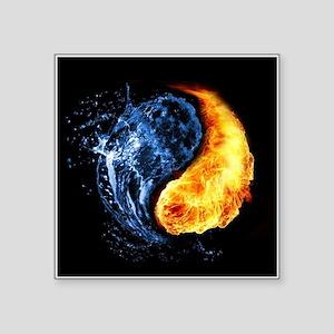 Elemental Yin Yang Sticker