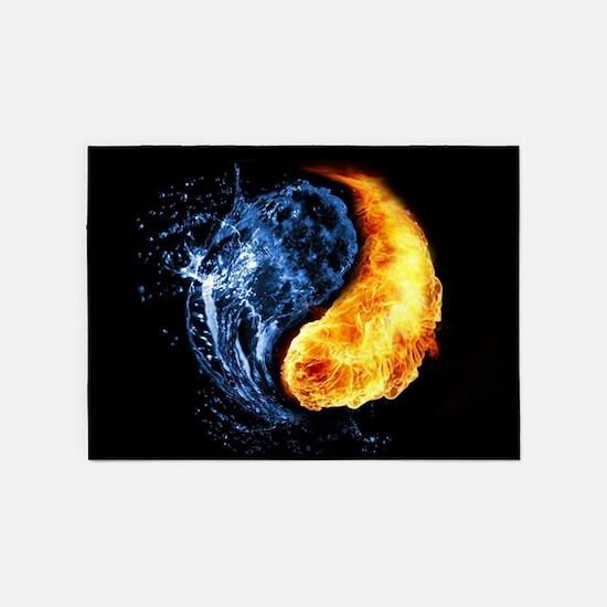 Elemental Yin Yang 5'x7'Area Rug