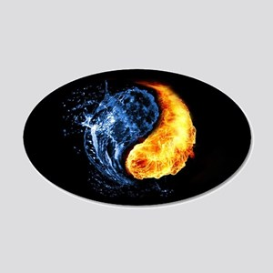 Yin Yang Fire Ice Wall Art Cafepress