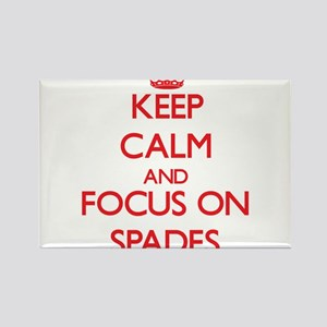 Keep Calm and focus on Spades Magnets