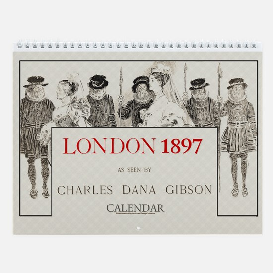 1897 Gibson's London Society 11x9 Wall Calendar