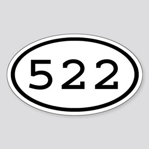522 Oval Oval Sticker