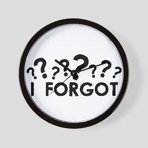 I Forgot Wall Clock