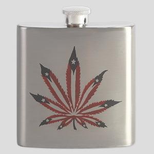 PR Weed Leaf Flask