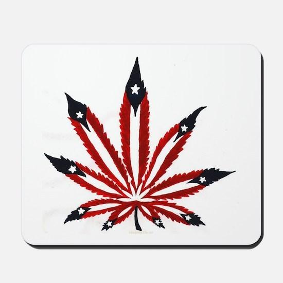 PR Weed Leaf Mousepad