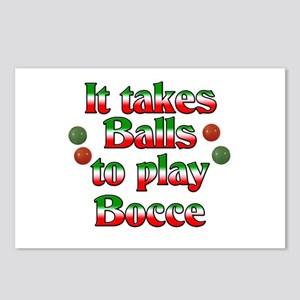 It Takes Balls To Play Bocce Postcards (Package of
