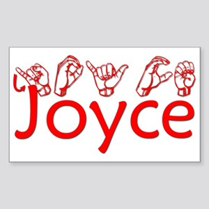 Joyce Rectangle Sticker