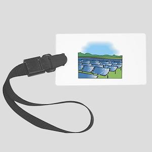 solar panel field. Luggage Tag