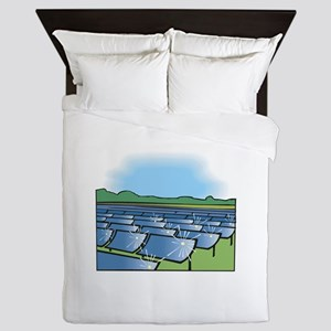 solar panel field. Queen Duvet
