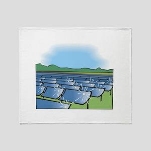 solar panel field. Throw Blanket