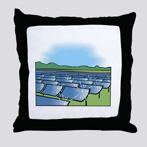 solar panel field. Throw Pillow