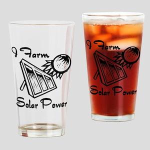 i farm solar power Drinking Glass