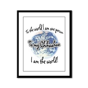 Chihuahua World2 Framed Panel Print