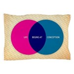 Life Begins At Conception Pillow Case
