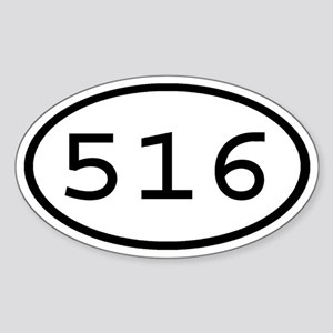 516 Oval Oval Sticker