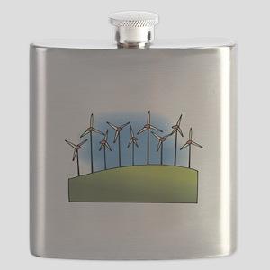 wind farm windmills Flask
