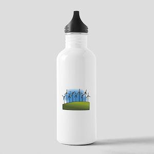 wind farm windmills Water Bottle
