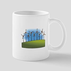 wind farm windmills Mugs