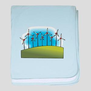 wind farm windmills baby blanket