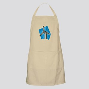 Windmill on blue sky Apron