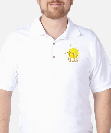 three yellow windmills.png Golf Shirt