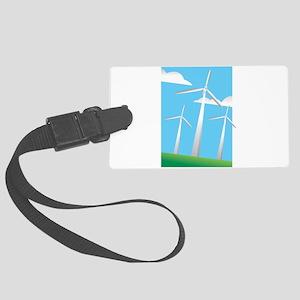 pretty windmills Luggage Tag