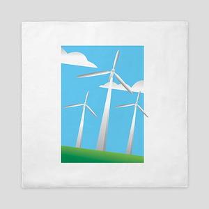 pretty windmills Queen Duvet