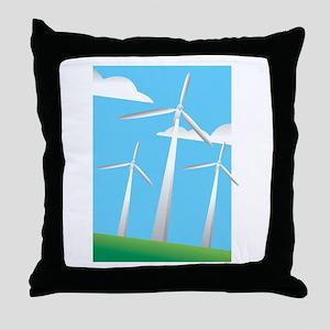 pretty windmills Throw Pillow