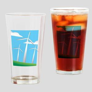 pretty windmills Drinking Glass