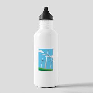 pretty windmills Water Bottle